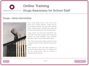 Drugs training screenshot