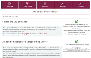 Online E-safety Checklist