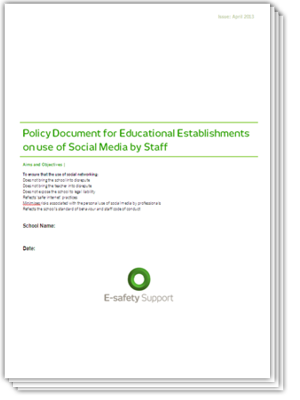 Safeguarding essentials school resources policy for Social media policy template for schools