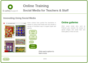 Social media training screenshot