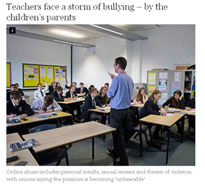 E-safety Teachers Bullied